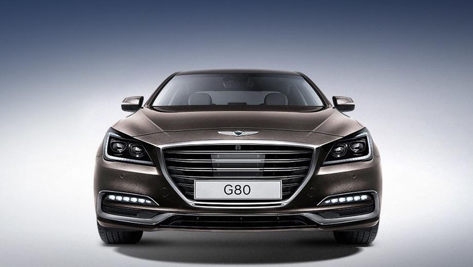 Genesis g80. По сути перед нами Hyundai Genesis, переживший фейслифтинг. Обновление прошло по традиционной схеме: заменены решётка, бамперы и светотехника.