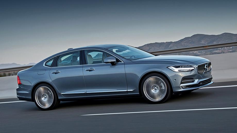 Volvo s90. Cедан Volvo S90 появится у нас в ноябре с дизелем D5 (235 л.с.) и бензиновыми «четвёрками» Т5 (249) и Т6 (320). Все — с восьмиступенчатым «автоматом» и, кроме версии Т5, с полным приводом. Заказы принимаются: от 2 641 000 до 3 586 000 рублей. Варианты попроще — позже.