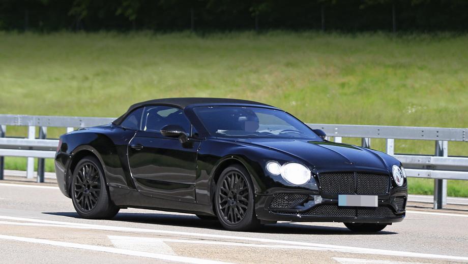 Bentley continental gtc,Bentley continental gt. Внешний облик кажется знакомым, но это лишь маскировка — грубо прикрученные накладки делают новый кабриолет похожим на нынешний. Вблизи становится понятно, что кузов иной.