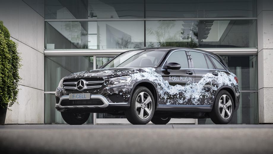 Mercedes glc f,Mercedes glc f-cell. Автомобиль был показан на закрытом мероприятии в Штутгарте. Позже его продемонстрируют широкой публике на мотор-шоу в Париже.