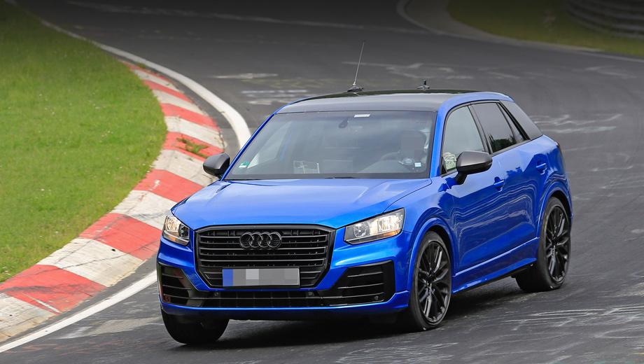 Audi q2,Audi sq2. Первое, что выдаёт в этом образце «заряженный» вариант, — изменённый бампер с крупными воздухозаборниками и чёрные колёсные диски.