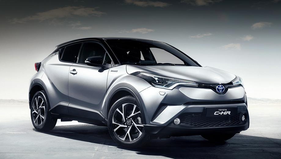 Toyota c-hr. Кроссовер Toyota C-HR построен на платформе TNGA. Автомобиль будет доступен с бензиновым турбомотором 1.2 мощностью 116 л.с., а также гибридной силовой установкой.