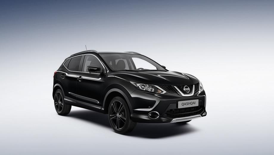 Nissan qashqai. Автомобили из лимитированной линейки доступны в двух вариантах окраски кузова — чёрном Pearlescent Black Metallic и белом Pearl White.
