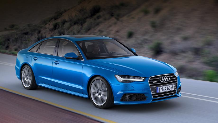 Audi a6. Опционально «а-шестые» могут быть оснащены пакетом S line, который включает в себя другую решётку радиатора, задний диффузор, накладки на пороги, а также хромированную окантовку воздухозаборников. Стоит такой набор 116 485 рублей.