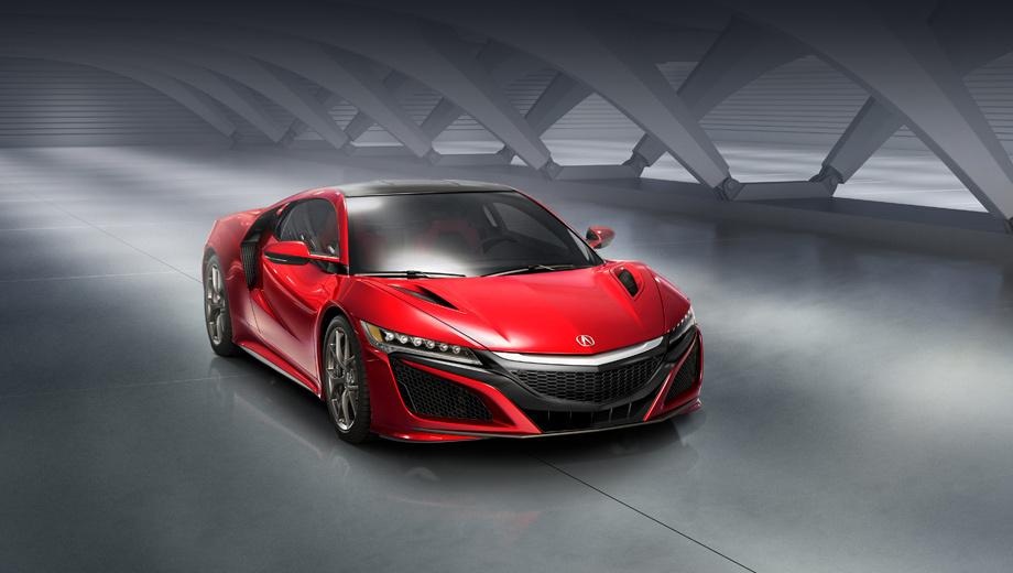 Honda nsx,Acura nsx. Напомним, у обычного «эн-эс-икса» силовая установка состоит из «битурбошестёрки» 3.5 и трёх электромоторов.