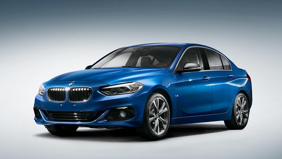 Bmw 1,Bmw 1 sedan. На сегодняшний день это единственное официальное фото «первого компактного спортседана BMW», который стал запоздалым ответом Мерседесу CLA и Audi A3.