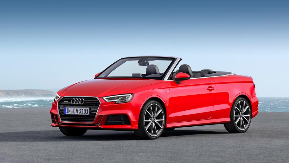 Audi a3,Audi a3 cabrio. С места до 100 км/ч кабриолет ускоряется за 8,9 с, максималка равна 222 км/ч.