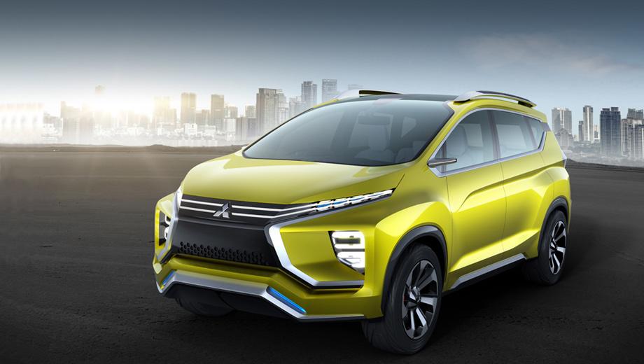 Mitsubishi concept,Mitsubishi xm. Набирающая среди производителей популярность парящая крыша с зачернённым фрагментом задней стойки для Mitsubishi не в диковинку. Такую мы видели в концепте eX, аналогичный приём использован и в шоу-карах Ground Tourer и AR.