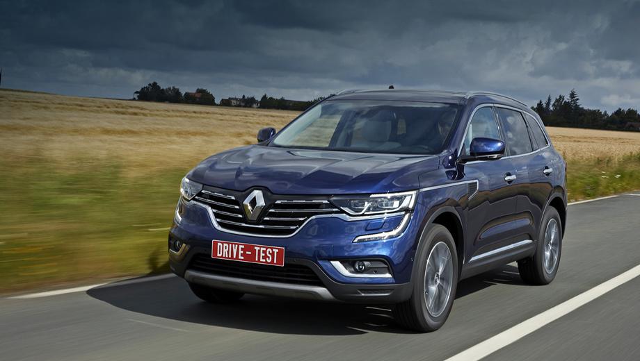Renault koleos. На российский рынок новый Koleos выйдет в первой половине 2017 года. О доступных модификациях и ценах узнаем ближе к делу. Вообще, в арсенале модели — два бензиновых мотора и два дизеля, передний и полный привод, «механика» и вариатор.