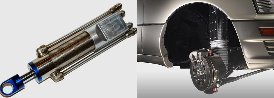 В предыдущих конструкциях такого плана применялись комбинированная схема, в которой амортизатор прокачивал гидравлическую жидкость через маленькую турбину, уже вращавшую электрический генератор (слева, прототип от MIT) или линейные моторы-генераторы (справа — опытная активная подвеска фирмы Bose).
