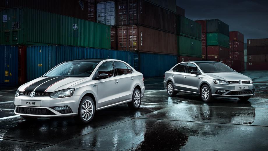 Volkswagen polo,Volkswagen polo gt. Для Polo GT предлагается эксклюзивный серебристый цвет Tungsten Silver. Первые 300 автомобилей доступны с чёрной крышей. Чёрные накладки на боковые зеркала уже входят в базовую комплектацию.
