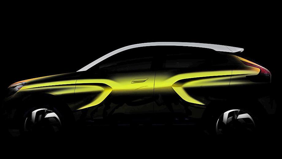 Тизер раскрывает профиль автомобиля. В серийную модель шоу-кар может переродиться уже в следующем году.<br />