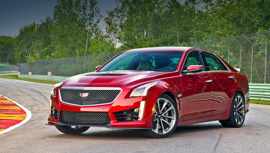 Cadillac cts-v. Седан CTS-V — самая мощная модель в линейке Кадиллака, да и в истории этой марки тоже.