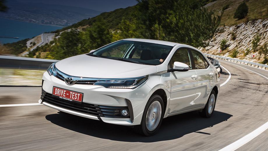 Toyota corolla. Модернизированные седаны уже в продаже. Цены кусаются: от 949 000 до 1 327 000 рублей. На выбор ― три двигателя, два типа коробок передач и шесть комплектаций.