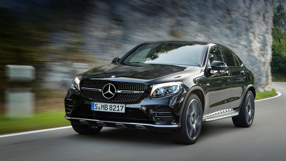 Mercedes glc coupe,Mercedes glc coupe amg. Продажи в Европе стартуют зимой. Кроссовер в скором времени доберётся и до России. Цены будут объявлены примерно тогда же. За Mercedes-AMG GLC 43 просят минимум 4 250 000 рублей, версия Coupe будет дороже.
