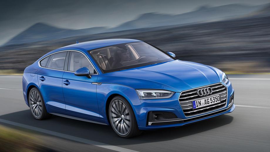 Audi a5 sportback,Audi a5 sportback g-tron,Audi s5 sportback,Audi a5. Длина — 4733 мм, ширина — 1843, высота — 1386 (было: 4718 × 1854 × 1382 мм). Колёсная база — 2824 мм (ранее: 2810). Масса уменьшилась на 85 кг, до 1470. Коэффициент аэродинамического сопротивления — 0,26.