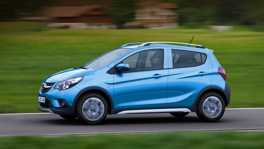 Opel karl rocks. От обычного Карла вседорожник отличается пластиковым обвесом кузова и серебристыми порогами.
