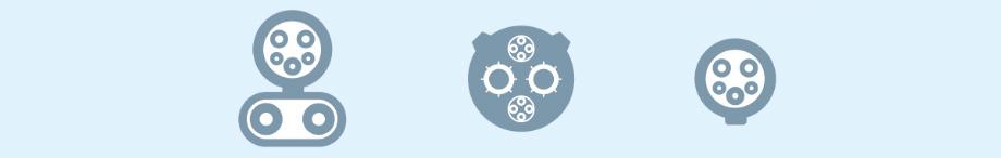 """Все новые точки оснащены разъёмами SAE Combo (CCS, рисунок слева), продвигаемым упомянутыми автопроизводителями. Дополнительно некоторые столбики предложат разъёмы <a href=""""/e/BkbxgEAAAYU"""" class=""""post-link"""">CHAdeMO</a> (под <a href=""""/e/BkeHAEAABPI"""" class=""""post-link"""">Nissan Leaf</a>) и J1772 Level 2 (переменный ток, 220 В, до 19 кВт, справа), подходящий для большинства электрокаров."""