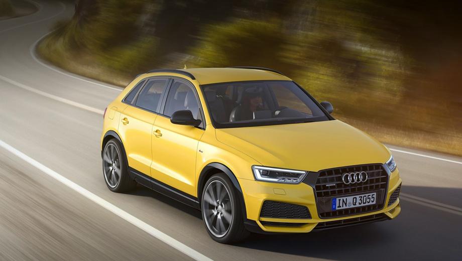 Audi q3. Новую версию S line competition проще всего опознать по обилию чёрных глянцевых элементов в экстерьере.