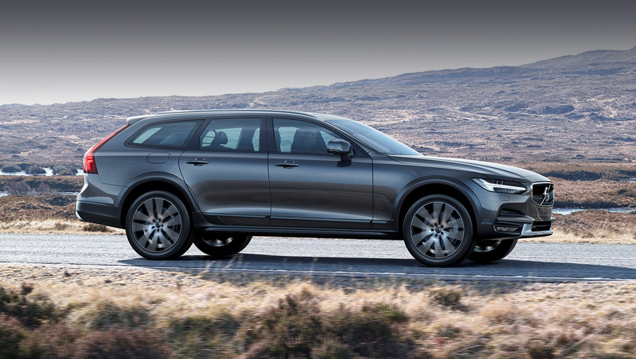 Volvo v90,Volvo v90 cross country. Помимо увеличенного клиренса (210 мм) V90 Cross Country отличается от простого универсала бамперами и элементами декора.