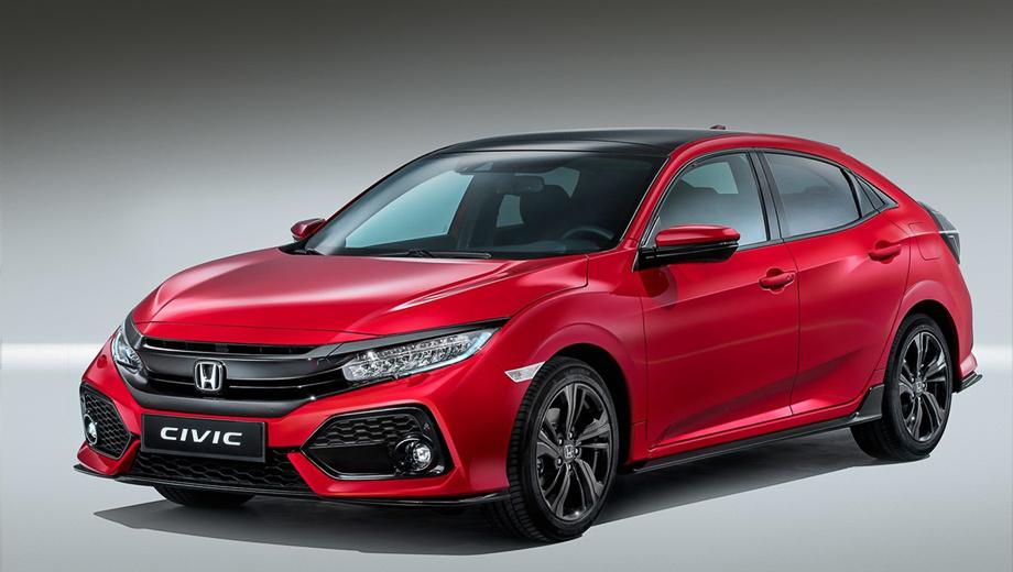 Honda civic. Публичная премьера хэтчбека состоится совсем скоро в Париже. В продажу в Европе он поступит в начале 2017 года.