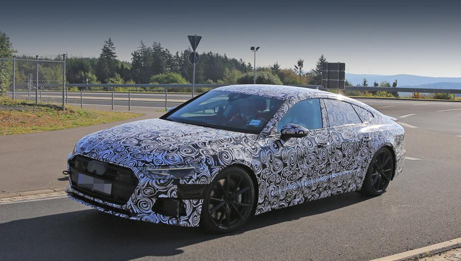 Audi a7,Audi s7. Судя по низкому клиренсу и большим колёсным дискам, в данном случае фотографам попался вариант S7.