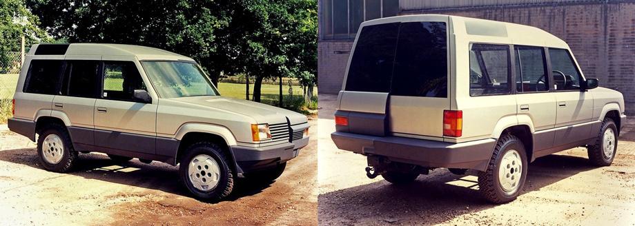 Автомобилю был дан зелёный свет в августе 1987 года. На фото — полноразмерный макет с двумя вариантами дизайна передка.