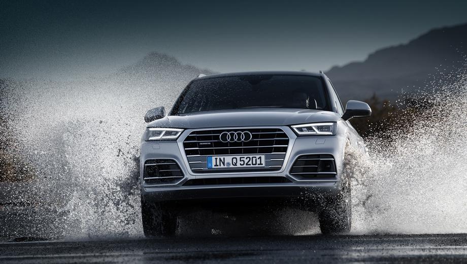 Audi q5. Длина, ширина и высота «ку-пятого» — 4663 м (на 34 мм длиннее, чем предыдущая модель), 1893 (−5 мм) и 1659 (+4 мм). Прибавка в колёсной базе составила 12 мм (теперь 2819 м).