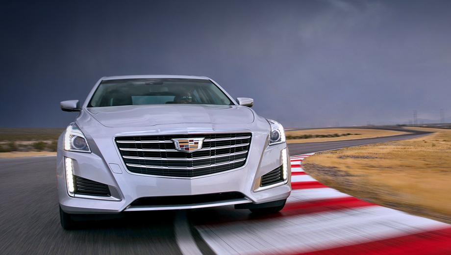 Cadillac cts. Внешне в ходе рестайлинга Кадиллаки CTS изменились по минимуму. Первые покупатели получат обновлённые машины уже в ноябре.