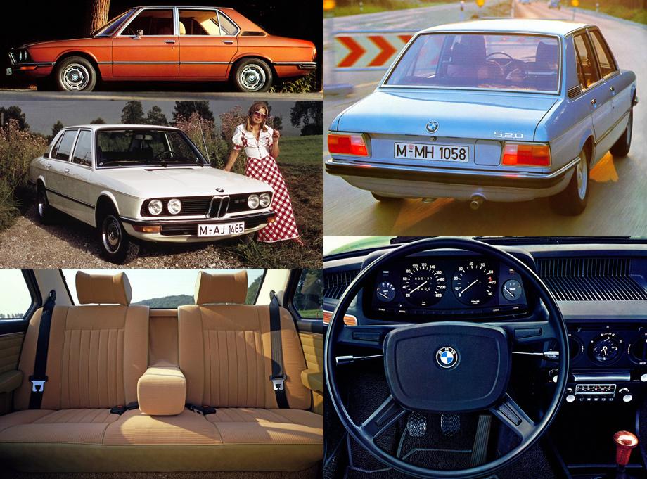 Cкромный по современным меркам седан (длина 4620 мм, база 2636) уже тогда оснащался двигателями с впрыском топлива и имел спортивную версию M535i, что делало машину одной из самых быстрых в классе (разгон до сотни за 7,2 c). Ещё любопытно, что эта модель стала первой у BMW с переключателем сигнала поворота слева от руля (до неё он располагался справа).