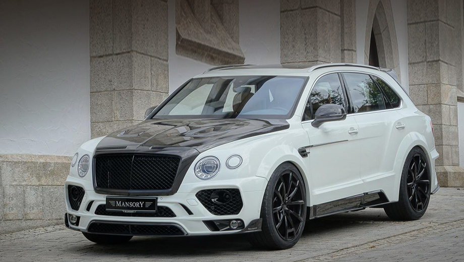 Bentley bentayga. Сам обвес, а также некоторые детали кузова внедорожника Bentley Bentayga сделаны из углепластика.