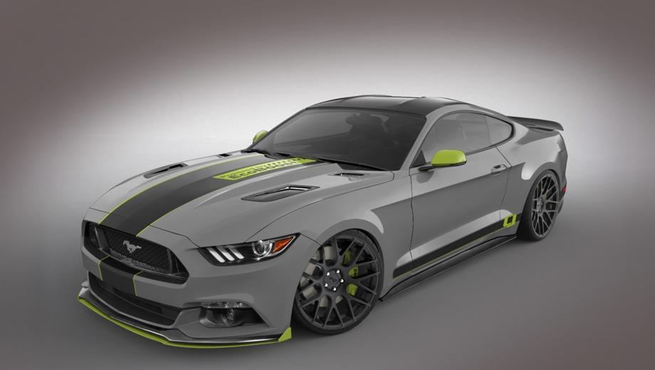 Ford mustang,Ford fusion. Купе Mustang от ателье CJ Pony Parts кажется серой мышкой, но у него есть большой плюс — широкое применение компонентов от Ford Performance, то есть заводских тюнинг-деталей от самого Форда.