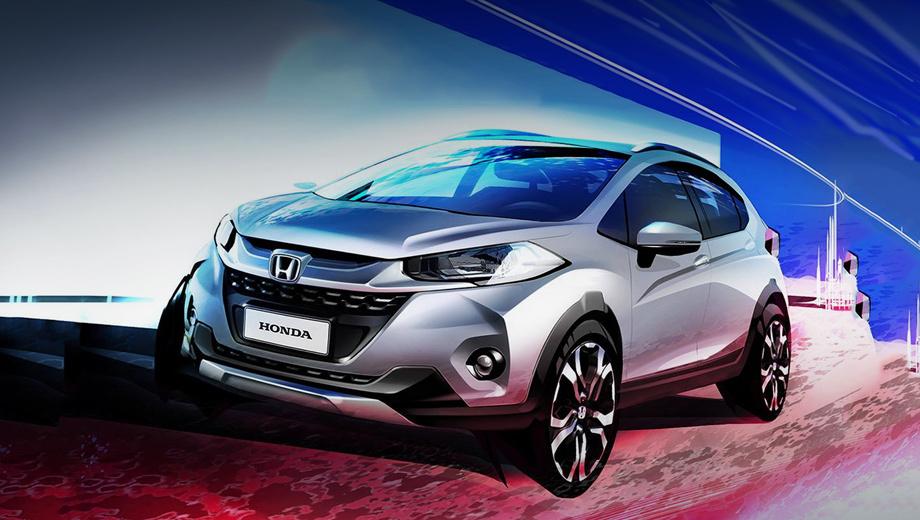 Honda wr-v,Honda fit twist. Судя по тизерам, внешность паркетника будет яркой. Ставка сделана в первую очередь на молодую аудиторию.