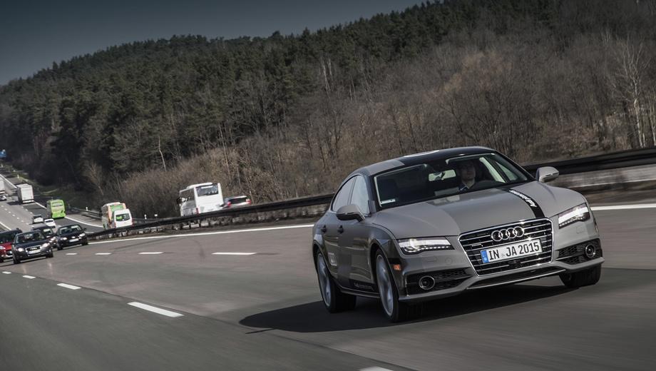 Audi a7. На хайвее A9 компания Audi работает над шестью проектами. Половина связана с техническими решениями по дорожной инфраструктуре, оставшиеся три направлены на развитие коммуникационных технологий. Все они призваны повысить безопасность и комфорт при движении на автопилоте.