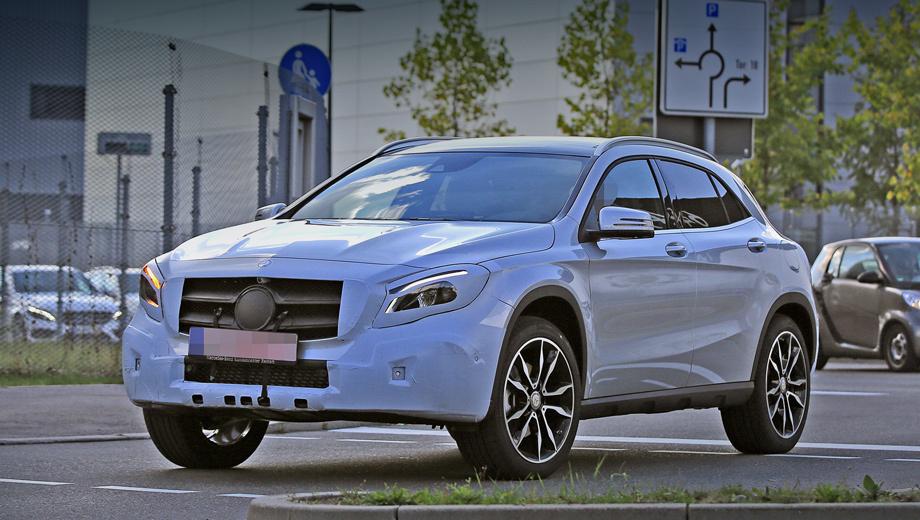 Mercedes gla. Камуфляжа на тестовых прототипах немного, поэтому никакой революции во внешности ожидать не стоит.