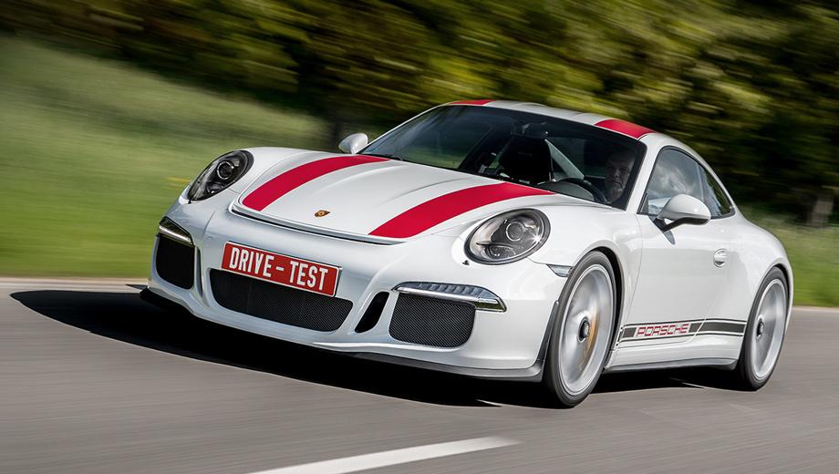 Porsche 911 r,Porsche 911. Страничка распроданной по 190 000 евро «эрки» на российском сайте Porsche гласит, что «цены будут сообщены...» Увы, она не попала к нам, и не по вине какой-нибудь «ЭРЫ-ГЛОНАСС», а из-за оказавшихся непреодолимыми требований сертификации к внутреннему шуму.
