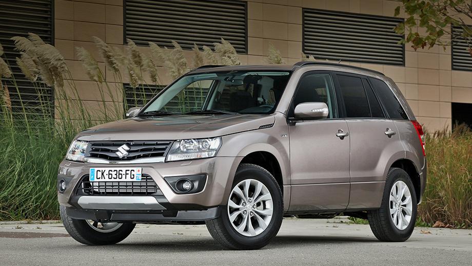 Suzuki grand vitara. В прошлом году в России реализовано 2076 внедорожников Suzuki Grand Vitara. Это почти в четыре раза меньше, чем годом ранее.