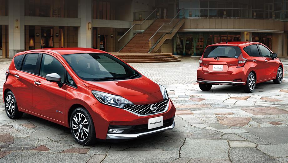 Nissan note,Nissan note epower. Длина, ширина, высота машины — 4100, 1695, 1520 мм, колёсная база — 2600 мм, снаряжённая масса — 1170−1220 кг (зависит от комплектации).