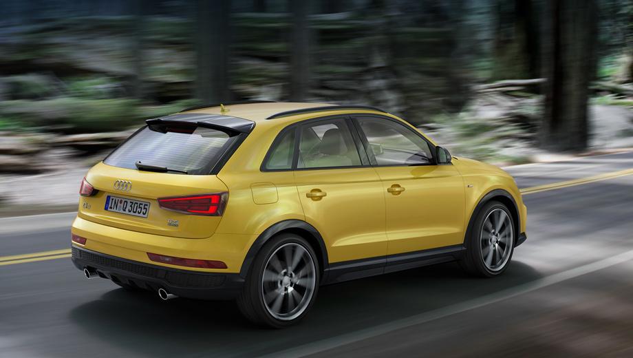 Audi q3. По умолчанию все модификации будут поставляться со спортивной подвеской.