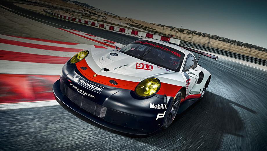 Porsche 911 rsr,Porsche 911. Данный болид будет выступать в категории LM-GTE в чемпионатах FIA World Endurance Championship и IMSA Weathertech.