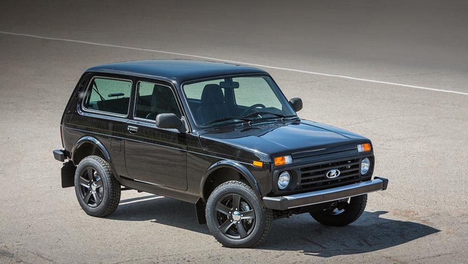 Lada 4x4. У машин в исполнении Black Edition — чёрные колёсные диски. Каким тиражом будут выпущены внедорожники, не уточняется.