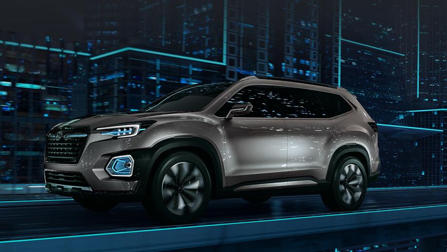 Subaru concept,Subaru viziv-7 suv. Когда этот семиместный автомобиль превратится в серийный, он станет самым большим Subaru в истории.
