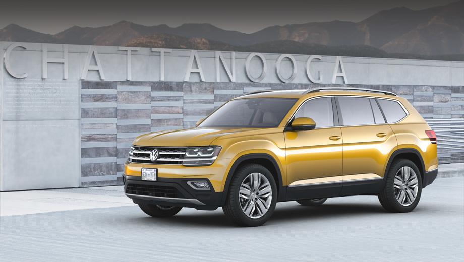 Volkswagen atlas,Volkswagen teramont. Напомним, что семиместный Atlas может похвастать колёсной базой 2980 мм и длиной 5037 мм.