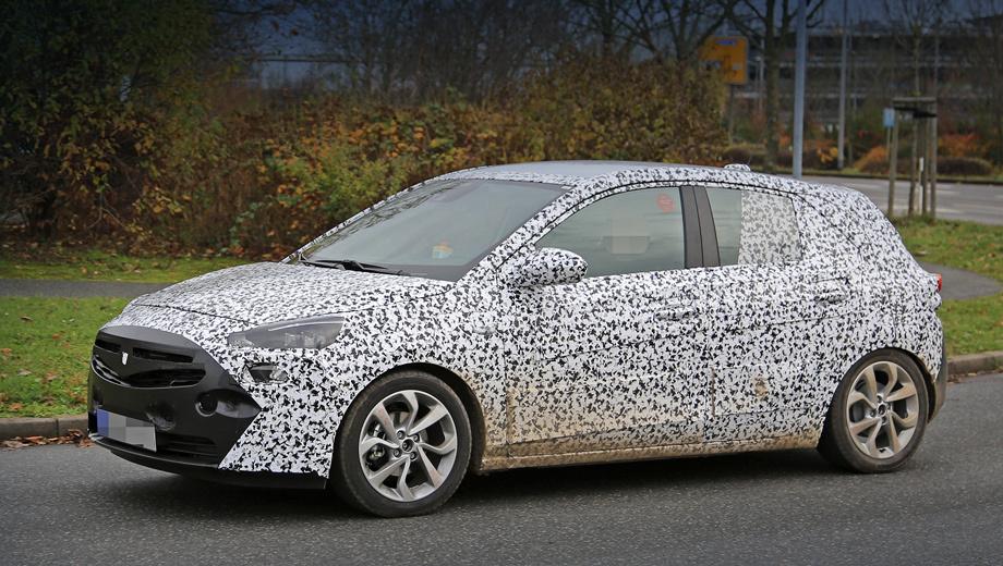 Opel corsa. Хэтчбек Corsa F, скорее всего, будет показан публике осенью 2017-го на Франкфуртском автошоу, а на рынок попадёт к концу того же года или в начале 2018-го.