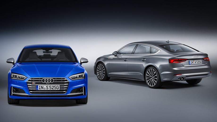 Audi a5 sportback,Audi s5 sportback. У «пятидверных купе» Audi в России, по сути, есть лишь два соперника: BMW третьей серии Gran Turismo (от 2 350 000 рублей) и Gran Coupe четвёртой серии (от 2 300 000). У обоих в начальной комплектации движок выдаёт 184 л.с.