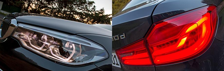 Базовые фары — диодные, за доплату — их адаптивный вариант Selective Beam с неослепляющим дальним светом и заявленным охватом до 500 м. Световая компоновка задних фонарей призвана визуально расширять автомобиль.