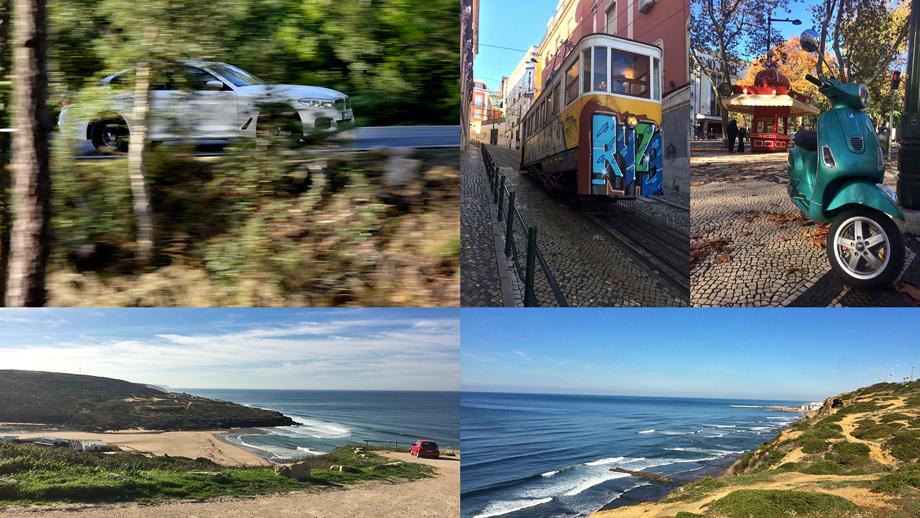 Как и в случае с новым Мерседесом Е-класса, презентация «пятёрки» проходила в окрестностях Лиссабона. Но каким бы интересным ни был этот город (сейчас там листопад, плюс 15), из него хочется вырваться, потому что вокруг ещё краше: горы, серпантины, океан.