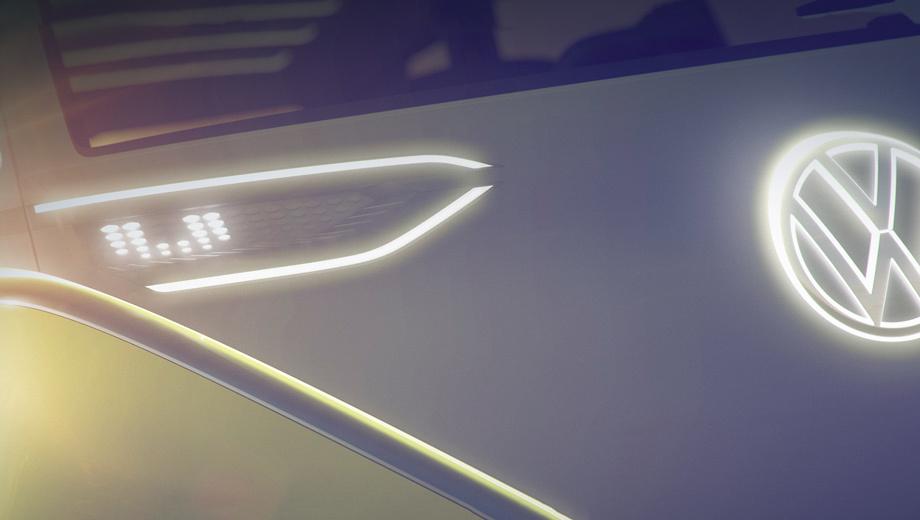 Volkswagen id,Volkswagen microbus. Говорят, длина электромобиля — примерно пять метров, и он способен принять на борт до семи человек. Задние двери сдвигаются автоматически. В серию машина пойдёт не раньше 2019 года.