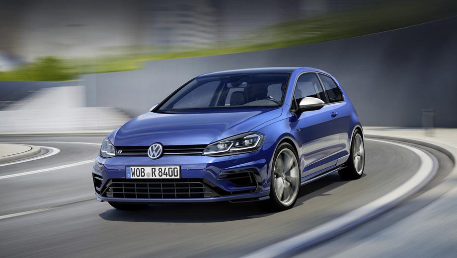 Volkswagen golf,Volkswagen golf r. Перед нами самый мощный современный серийный Golf (понятно, разнообразные форсированные концепты и единичные продукты тюниг-ателье были и производительнее).