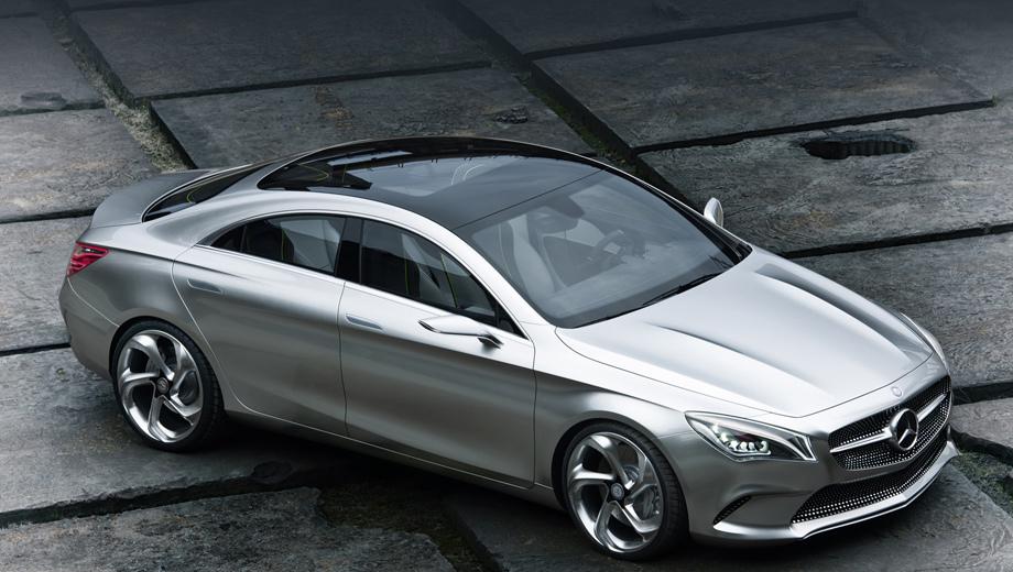 Mercedes a,Mercedes a sedan. Хотелось бы, чтобы новый седан получился столь же выразительным, как Concept Style Coupe 2012 года, но, скорее, выйдет нечто вроде слегка уменьшенного С-класса.
